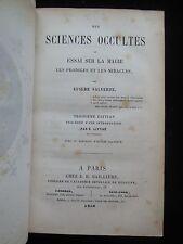 DES SCIENCES OCCULTES, by Eusebe Salverte - 1856
