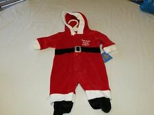 Carter's infant baby Christmas 3 month 3M 28.00 hoody 1 piece Santa helper ^^