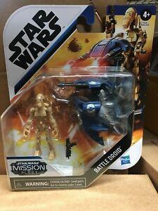 Star Wars Mission Fleet Battle Droid Gear Class Trade Federation STAP Fighter