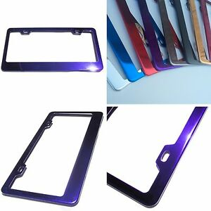 Powder Coated Purple Chrome Stainless Steel License Plate Frame Bracket Holder
