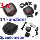 3 x DIGITAL LCD WATERPROOF BICYCLE BIKE COMPUTER SPEEDOMETER ODOMETER STOPWATCH