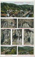 D RÜBELAND (Harz), Totalansicht ca. 1920 ungebr. farbige AK, Type Gruß Aus…