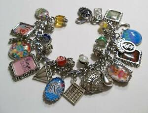 Lucky BINGO Casino Charm Bracelet Hand Crafted Glass Dome