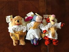 DISNEY'S MINI BEAN BAG WINNIE THE POOH EEYORE TIGGER Angel Choir Singing