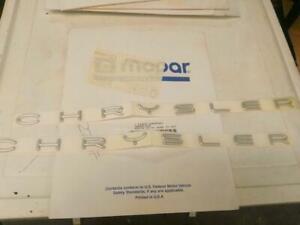 NOS OEM Genuine Mopar CHRYSLER Nameplate SET 4805060 SEBRING 300M CONCORDE