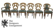 Six William Doezema Biedermeier Maple Burlwood Dining Chairs For Mastercraft 6