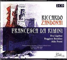 ZANDONAI- Francesca Da Rimini 2-CD **READ** 1976 Paris SANTI Ligabue/Bondino etc