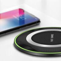 Qi Wireless Charger Ladegerät Ladestation Pad Mat für Samsung S10 S9 S8 Note 9 8