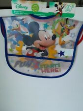 Disney Mickey Mouse 2 Pack Bibs With Crumb Catcher Pocket