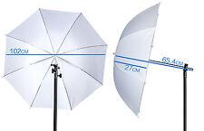 White Soft Diffuser Umbrella 100cm 40 Inch Semi-transparent Shoot Through Opaque