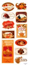 "Fall Thanksgiving Foiled Scrapbook Stickers 5""x12"""