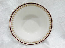 Bristile / Wembley ware - Rimmed Bowl maroon band & gold filigree pattern vgc