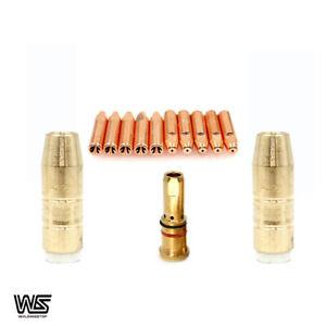 MIG Welding 0.8mm Front-End Consumable Kit fit Bernard 200A and 300A Gun PKG/13