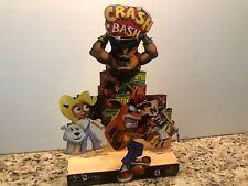 Crash Bandicoot Crash Bash PlayStation 1 Store Display Standee Promo 2000 Rare⭐️