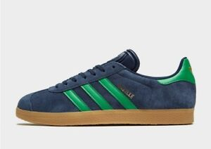 adidas Gazelle II Navy Green Gum UK 12 Trainers