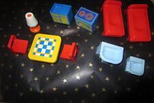 playmobil 123 lot de meubles  de la maison  cuisine chambre wc