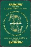 Playing Cards 1 Single Card Old FREMLINS Brewery BEER Advertising Art ELEPHANT D