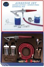 Paasche HS Aerografo Set Compreso TUTTI teste, tubo e bottiglie p-hs-set