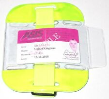 Yellow Hi Vis Tactical ID Arm Band Holder Security ID Badge Card Doorman SIA