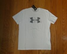 Under Armour S/S Shirt Nwt Size Lg White Heat Gear Loose Fit Men's Ua