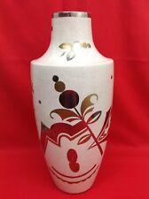 Atelier ASCH Faïencerie SAINTE-RADEGONDE Superbe vase craquelé Art Déco C.1925