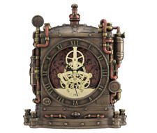 Steampunk Grand Machine Mantel Clock Futuristic Sculpture Figure - IDEAL GIFT