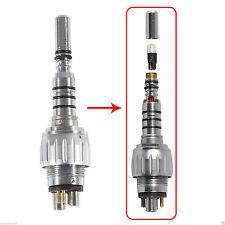 Dental Quick Coupler for KaVo Fiber Optic LED High Speed Handpiece Y6 6Hole