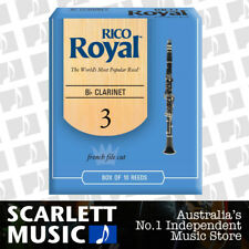Rico Royal Bb Clarinet Reed 10 Pack Reeds Size 3.0 ( Three ) RCB-1030 10PK