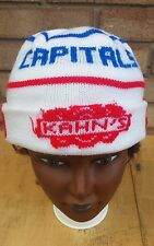 vtg Capitals winter hat hockey Kahn's red white blue NHL Washington DC Caps ski