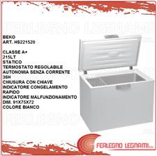 CONGELATORE A POZZETTO CLASSE A+ 215LT STATICO BEKO HS221520 BIANCO