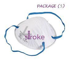5 Maschera Respiratore ffp2 Levigatura Vernice Aerosol polvere la carrozzeria modellata in sicurezza