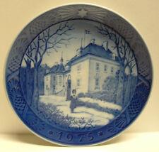 """1975 Royal Copenhagen """"The Queen's Christmas Residence"""" 7.25""""Collector Plate Euc"""