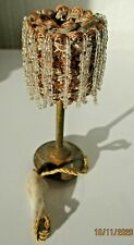 Antique Glass Beaded Lamp Dolls House Miniature c1910