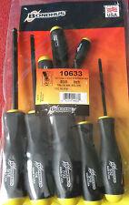BONDHUS 8 piezas Destornillador Hex Imperial extremo esférico Key Set bsx8 10633