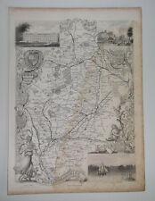 NOTTINGHAMSHIRE A Vintage Antique Map From 1848 Nottingham Southwell Bingham