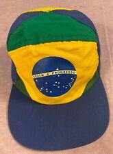 BRASILIAN FLAG SOCCER BASEBALL HAT CAP