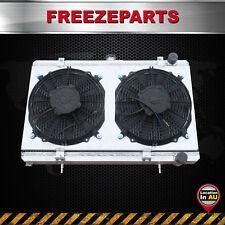 For Nissan SILVIA S13 180SX CA18DET Manual 1.8L Aluminum Radiator +shroud +Fans