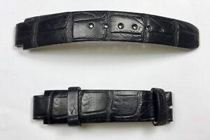 BAUME & MERCIER Watch Strap Crocodile Leather Black 14x11mm 10x7cm OEM /