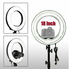 "Us 18"" Fluorescent 5500K Dimmable Ring Light w/ Bag Camera Photo Video Studio Wf"