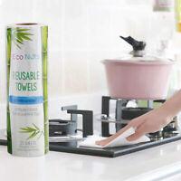 25pcs Reusable Bamboo Towel Kitchen Dish Cloth Paper Towel Roll OrganicPLUS