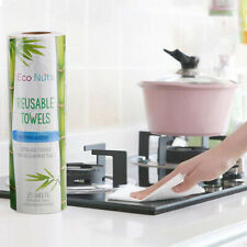 25pcs Reusable Bamboo Towel Kitchen Dish Cloth Paper Towel Roll Organic WashH lc