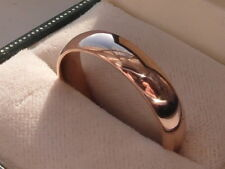 Q160 Genuine 9ct Rose gold 5mm Clogau Windsor wedding band ring size V 1/2
