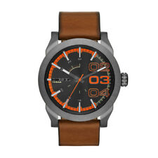 DZ1680 New Genuine DIESEL Double Down Watch on Tan Leather RRP £145