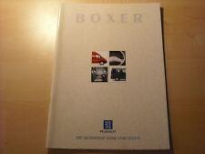 50732) Peugeot Boxer Prospekt 09/1998