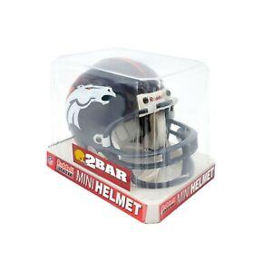 Riddell Sports NFL Denver Broncos Navy Blue 2 BAR Mini Football Helmet Open Box