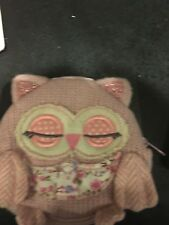 BNWOT MONSOON ANGELS OWL COIN  PURSE KNITTED IN PINK