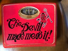 *Vintage Bathroom Scale 1960's Red The Devil Made Me Do It