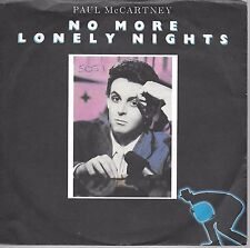 Paul McCartney No More Lonely Nights PROMO Australia 45 With Picture Sleeve