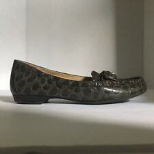 5e4ccd686a73 Naturalizer Northall Loafers Vegan Faux Croc Gray Leather Comfort Sole Size  6