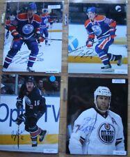 4 Signed Oilers NHL 8x10 Photos  Belanger, Fedun, Hordichuk, Penner   FREE SHIP